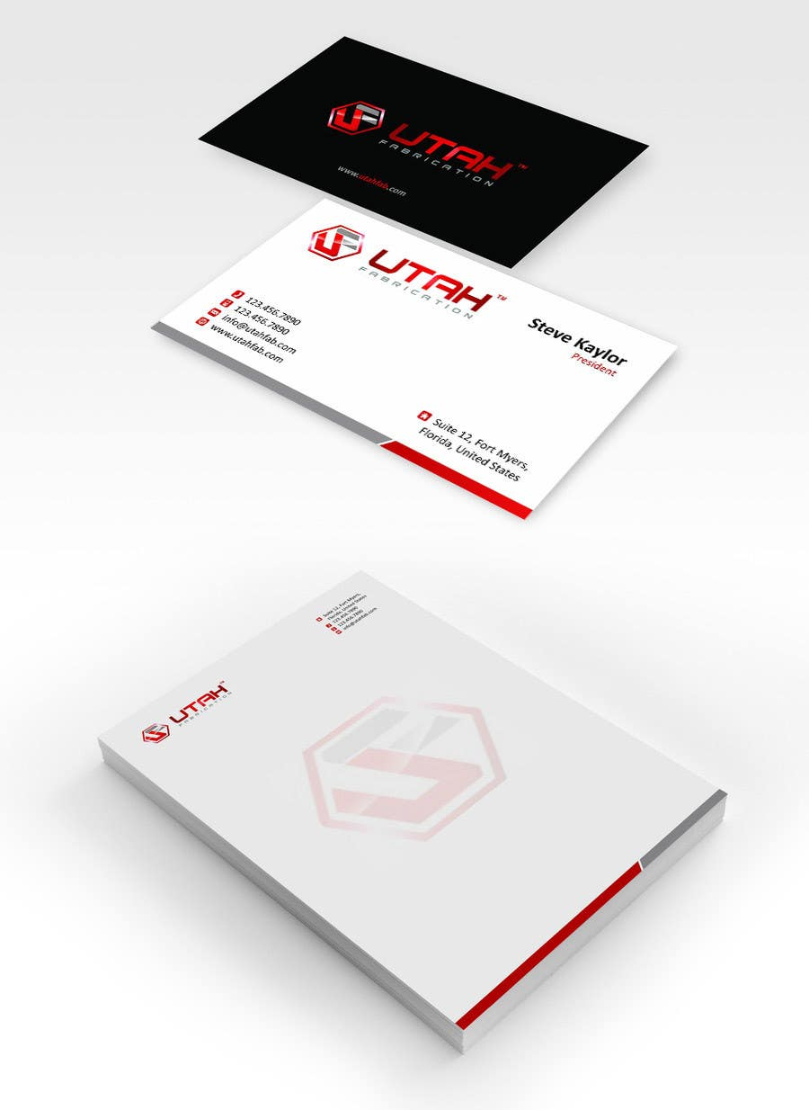 Proposition n°7 du concours Design some Business Cards & Letterhead for Utah Fabrication