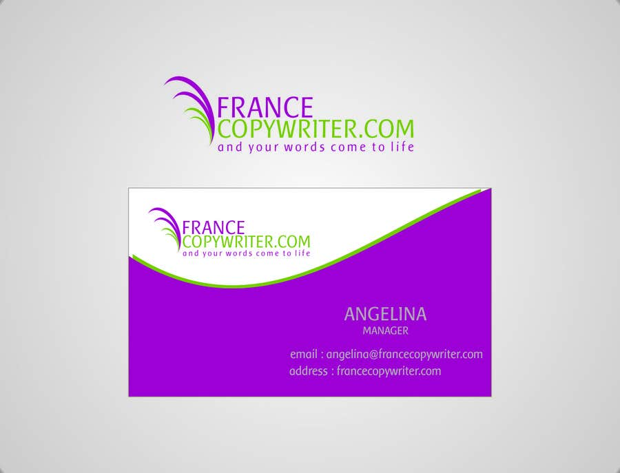#47 for Require logo and business cards design for:  Francecopywriter (international logo) by eltorozzz