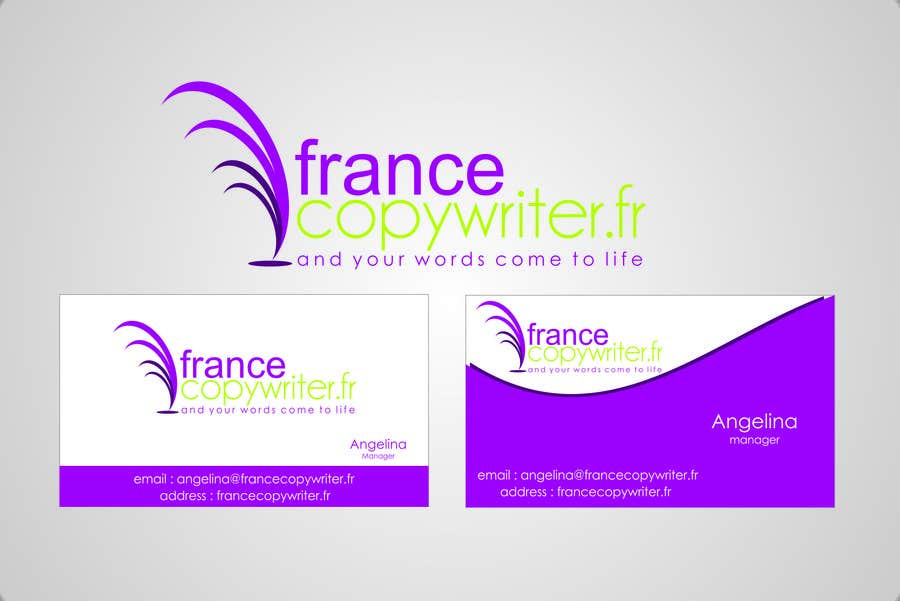#61 for Require logo and business cards design for:  Francecopywriter (international logo) by eltorozzz