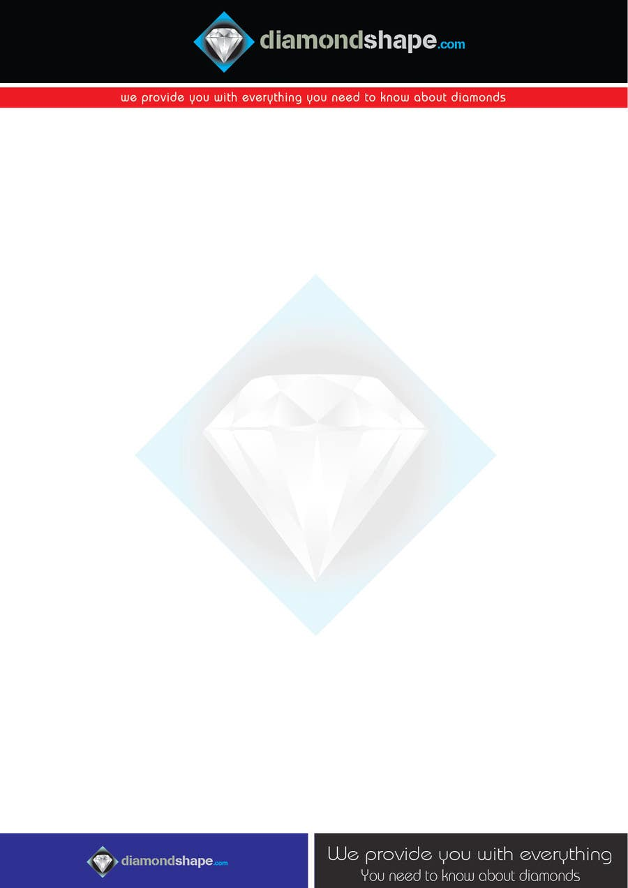 Penyertaan Peraduan #35 untuk DiamondShape.com Logo & Header
