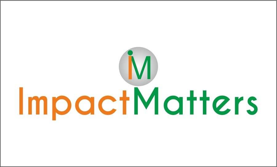 Penyertaan Peraduan #58 untuk Design a Logo for Impact Matters
