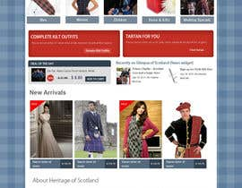 #3 cho HeritageOfScotland.com - online store graphic design. Functional mockup is ready. Probable job offer for three best designers. bởi kethketh