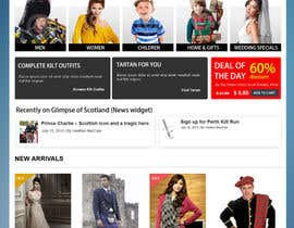 #12 para HeritageOfScotland.com - online store graphic design. Functional mockup is ready. Probable job offer for three best designers. por kethketh