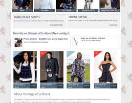 #14 cho HeritageOfScotland.com - online store graphic design. Functional mockup is ready. Probable job offer for three best designers. bởi kethketh