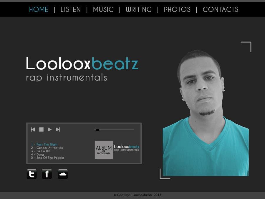 Kilpailutyö #2 kilpailussa Design a Website Mockup for Loolooxbeatz