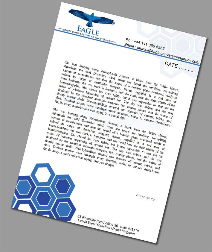 #51 for Design my Company Letterhead by sreesiddhartha