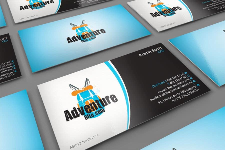 #10 for Design some Business Cards for AdventureBite.com by midget