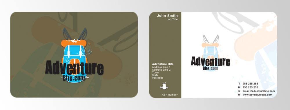 #2 for Design some Business Cards for AdventureBite.com by GreenGooDesign