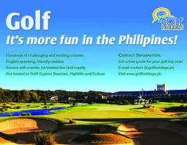 #29 untuk Poster/ Advertisement for Golf Holidays  - RUSH Deadline Sep.13 oleh moeenmh