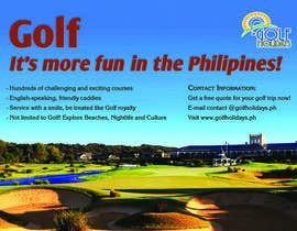 #30 untuk Poster/ Advertisement for Golf Holidays  - RUSH Deadline Sep.13 oleh moeenmh