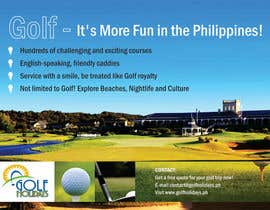 #4 untuk Poster/ Advertisement for Golf Holidays  - RUSH Deadline Sep.13 oleh linokvarghese