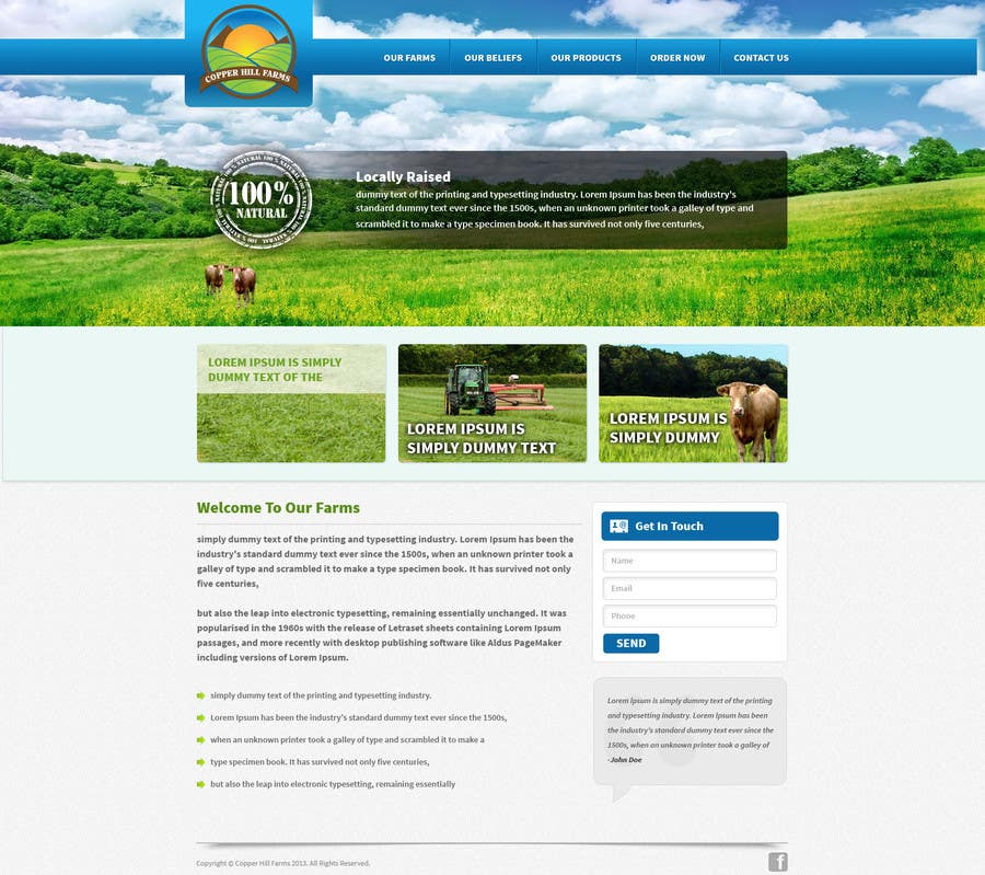 #9 for Design a Website Mockup for IslandFarming.com & Logo by tania06