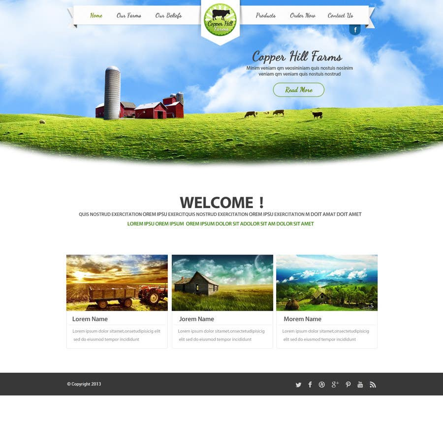 #16 for Design a Website Mockup for IslandFarming.com & Logo by SadunKodagoda