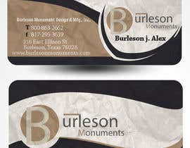 #35 untuk Design some Business Cards for Monument / Headstone company oleh mamem