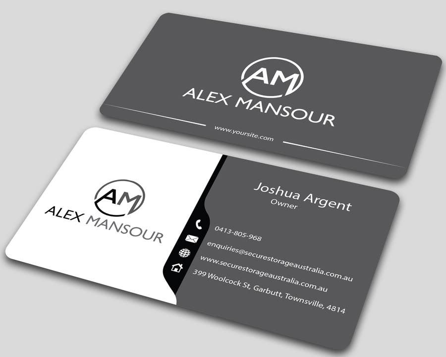 business card design for freelance software developer