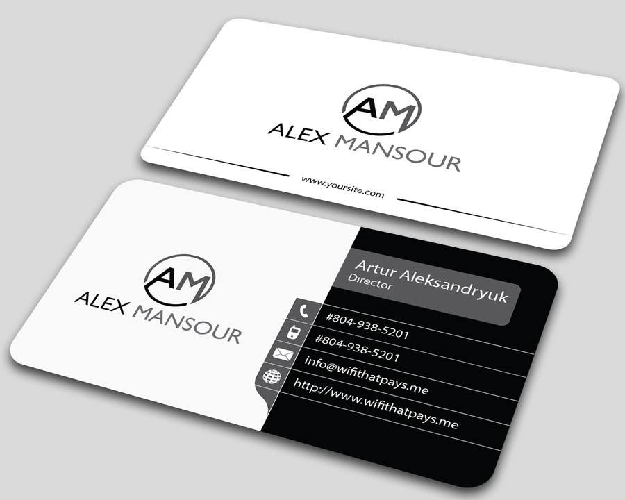 Entry 15 by allhajj17 for business card design for for Freelance business cards