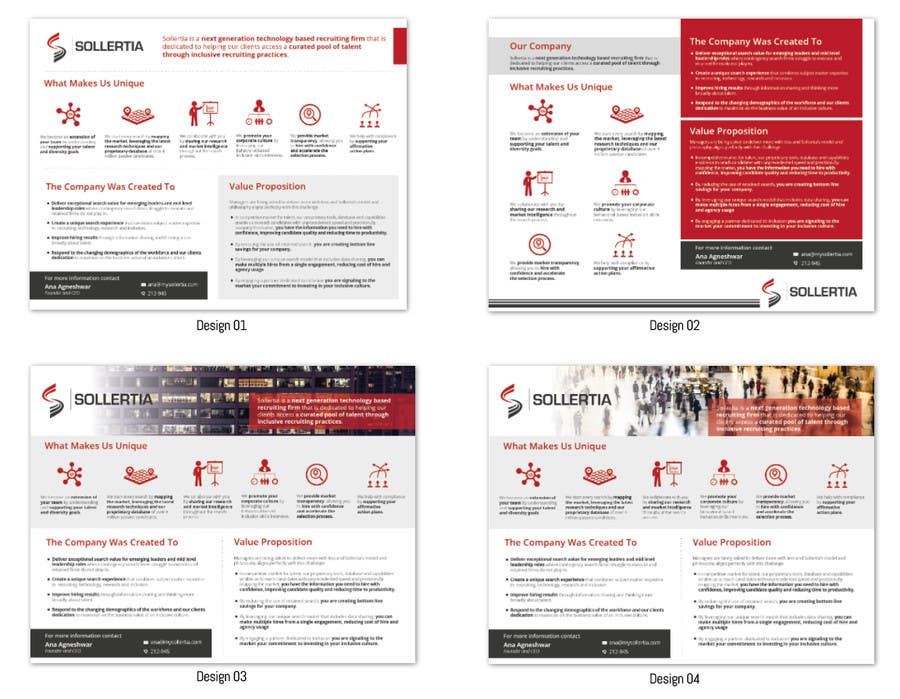 entry 22 by lelaku for design a one pager powerpoint template of