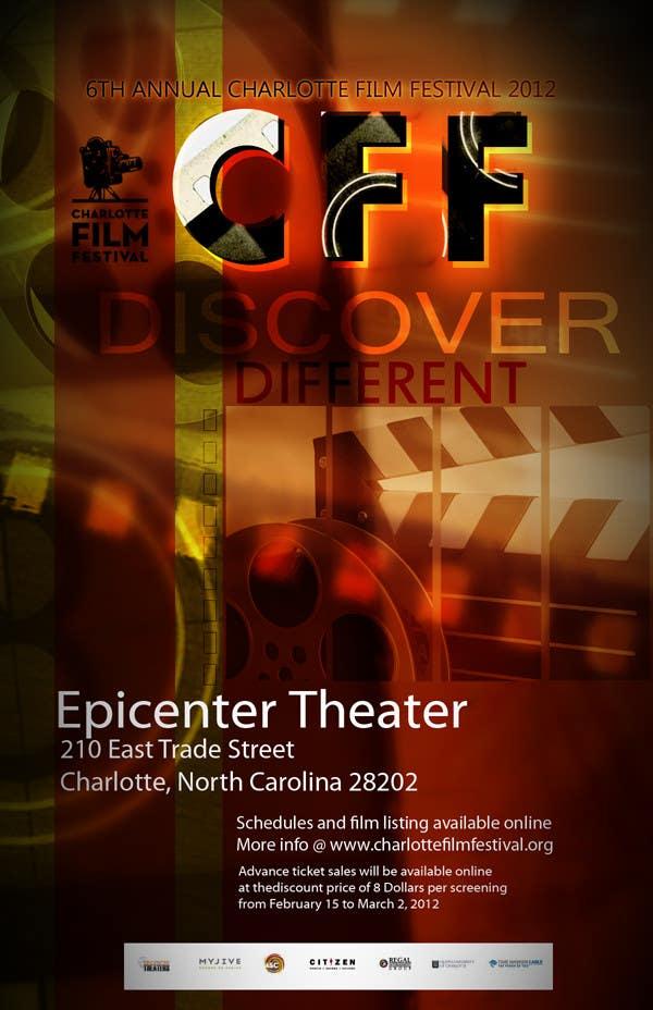 Inscrição nº 24 do Concurso para Design materials for the Charlotte International Film Festival