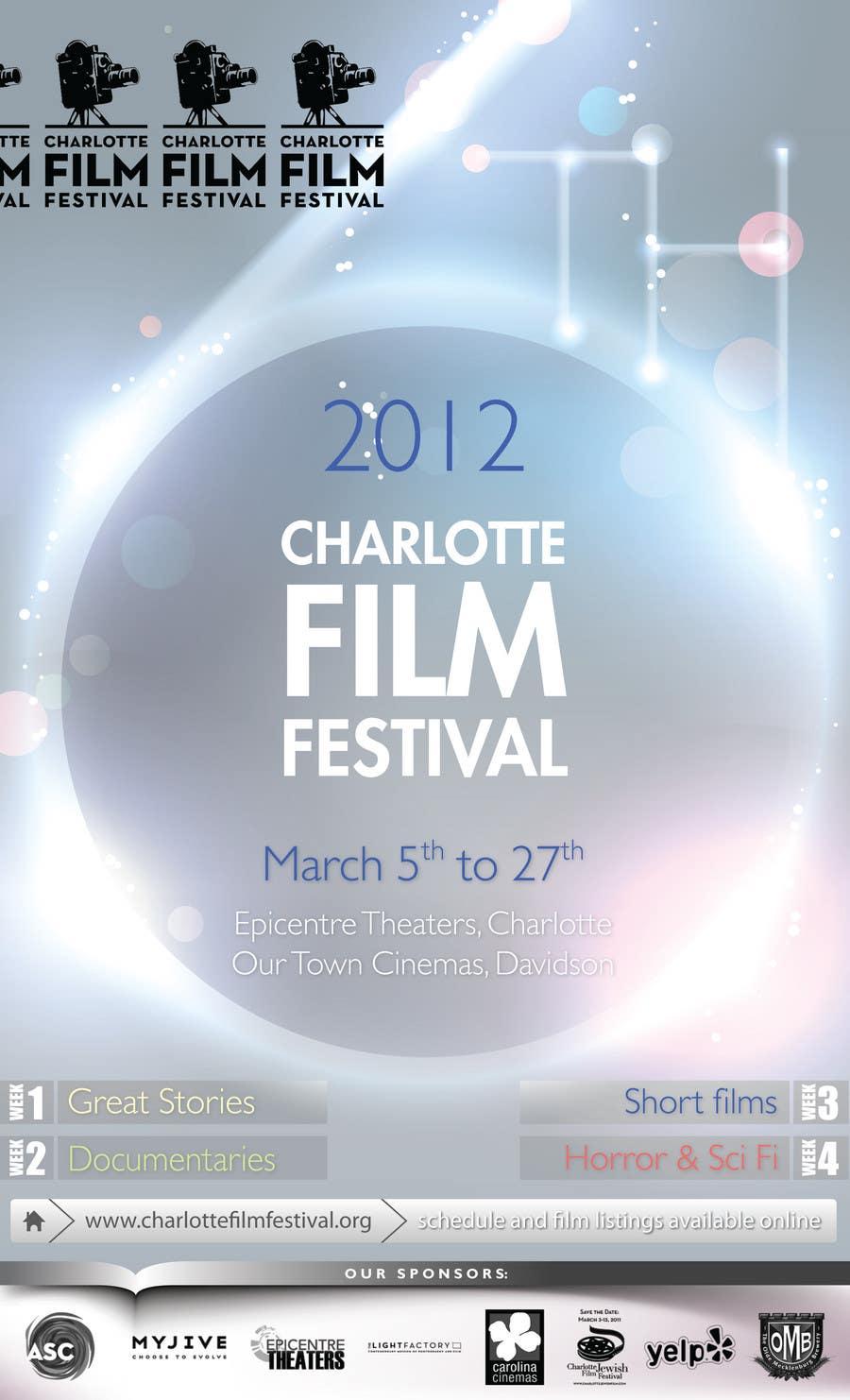 Inscrição nº 99 do Concurso para Design materials for the Charlotte International Film Festival