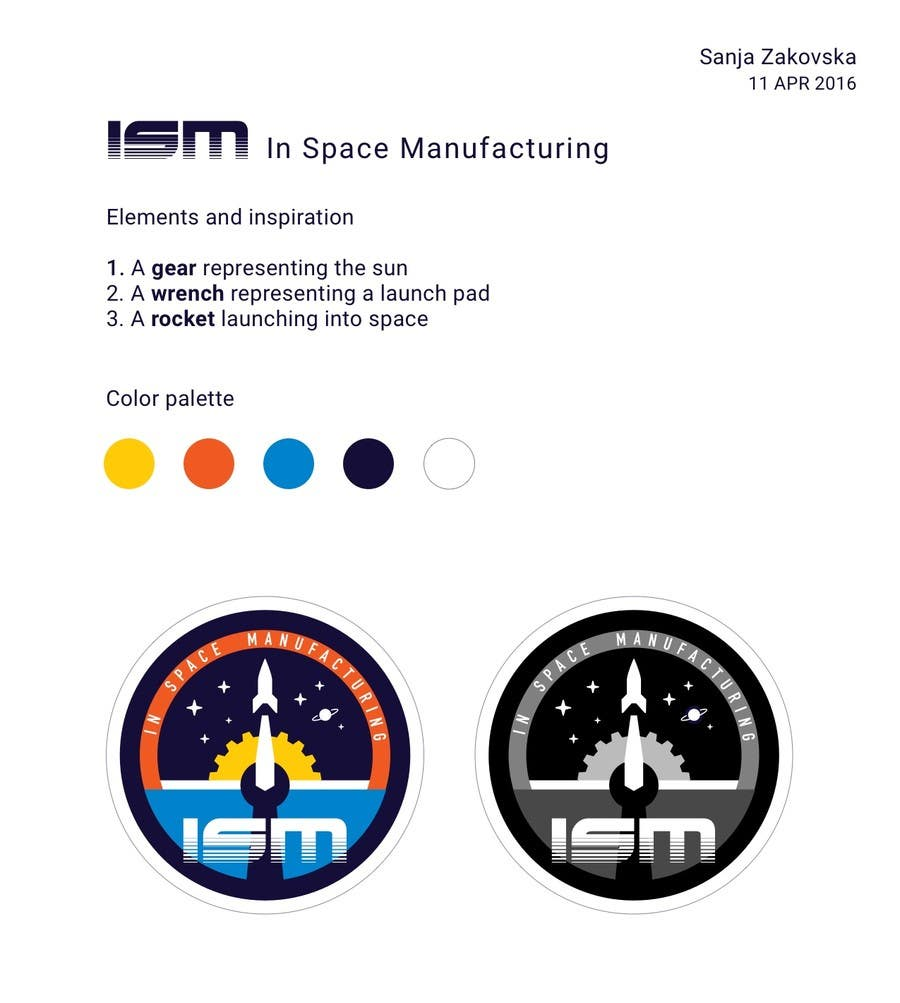 Entry 549 By Bakibak For Nasa In Space Manufacturing Logo Challenge