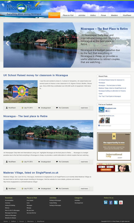 Kilpailutyö #                                        9                                      kilpailussa                                         Design a Website Mockup for Nicaplanet.com