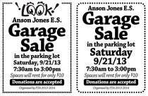 "Entry # 15 for Design an Advertisement for Anson Jones ES ""Garage Sale"" by"