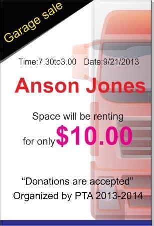 """Inscrição nº 2 do Concurso para Design an Advertisement for Anson Jones ES """"Garage Sale"""""""