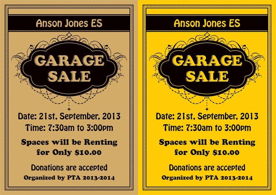"""Inscrição nº 12 do Concurso para Design an Advertisement for Anson Jones ES """"Garage Sale"""""""