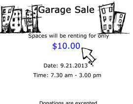 "#14 para Design an Advertisement for Anson Jones ES ""Garage Sale"" por selkraps"