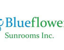 #355 para Logo Design for Blueflower TM Sunrooms Inc.  Windscreen/Sunrooms screen reduces 80% wind on deck por Anakuki