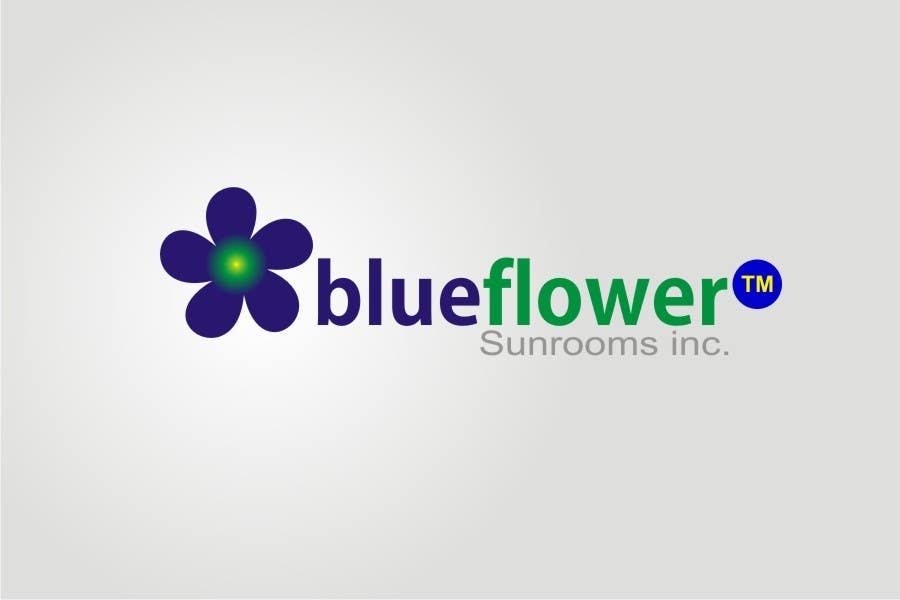 #173 for Logo Design for Blueflower TM Sunrooms Inc.  Windscreen/Sunrooms screen reduces 80% wind on deck by asifjano