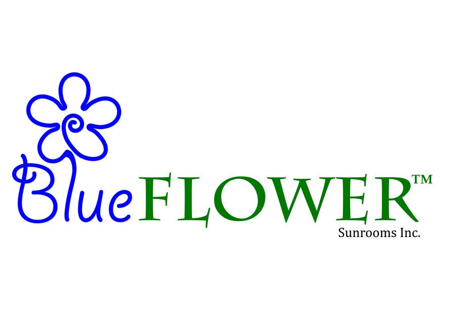#397 for Logo Design for Blueflower TM Sunrooms Inc.  Windscreen/Sunrooms screen reduces 80% wind on deck by AntonSh