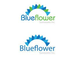 Nro 382 kilpailuun Logo Design for Blueflower TM Sunrooms Inc.  Windscreen/Sunrooms screen reduces 80% wind on deck käyttäjältä bandmaster