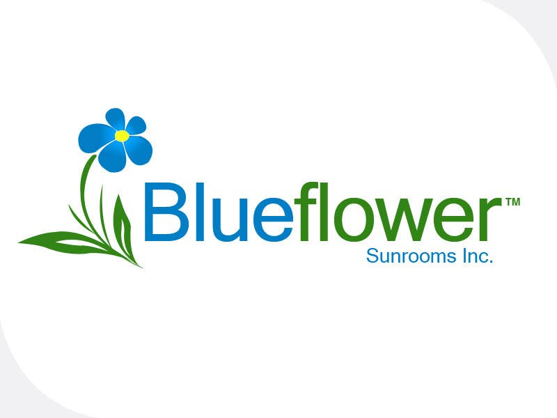 #357 for Logo Design for Blueflower TM Sunrooms Inc.  Windscreen/Sunrooms screen reduces 80% wind on deck by e2developer