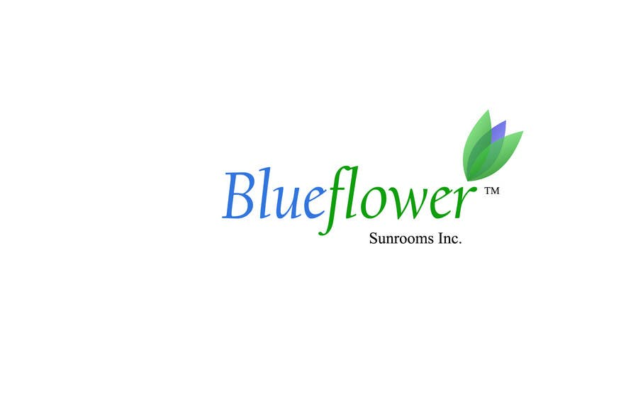 #189 for Logo Design for Blueflower TM Sunrooms Inc.  Windscreen/Sunrooms screen reduces 80% wind on deck by ananta0505035
