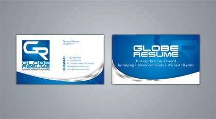 #72 for Design Awesome Business Cards for Globe Resume af nomi2009