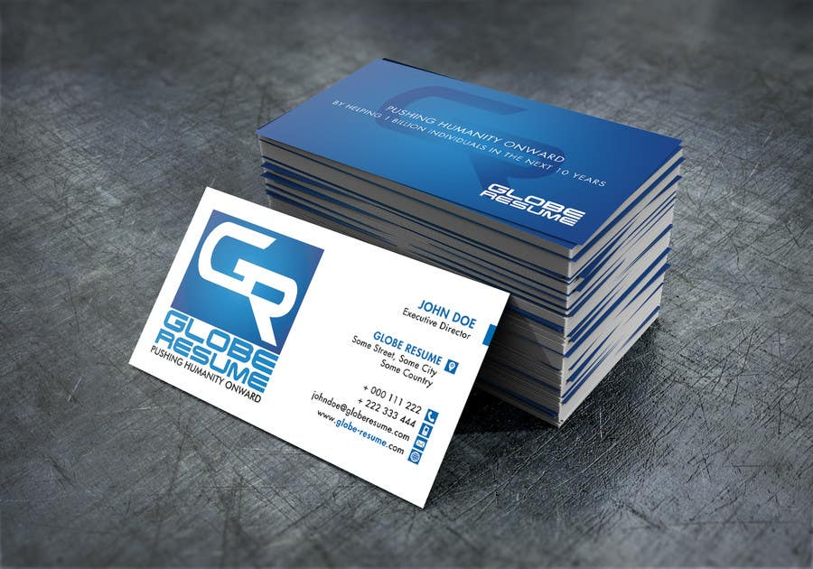 Bài tham dự cuộc thi #13 cho Design Awesome Business Cards for Globe Resume