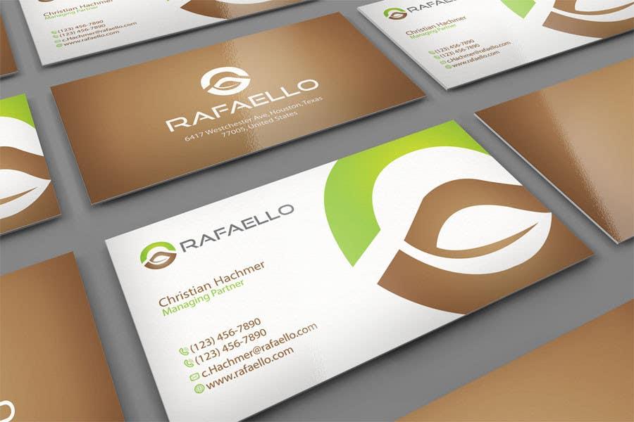 """Inscrição nº 2 do Concurso para Design Business Cards and Letterhead for Company """"Rafaello"""""""