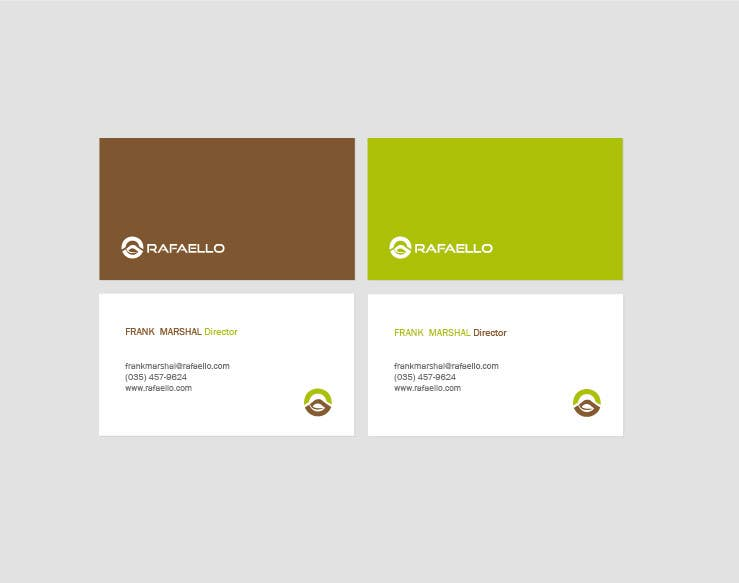 "Inscrição nº 13 do Concurso para Design Business Cards and Letterhead for Company ""Rafaello"""