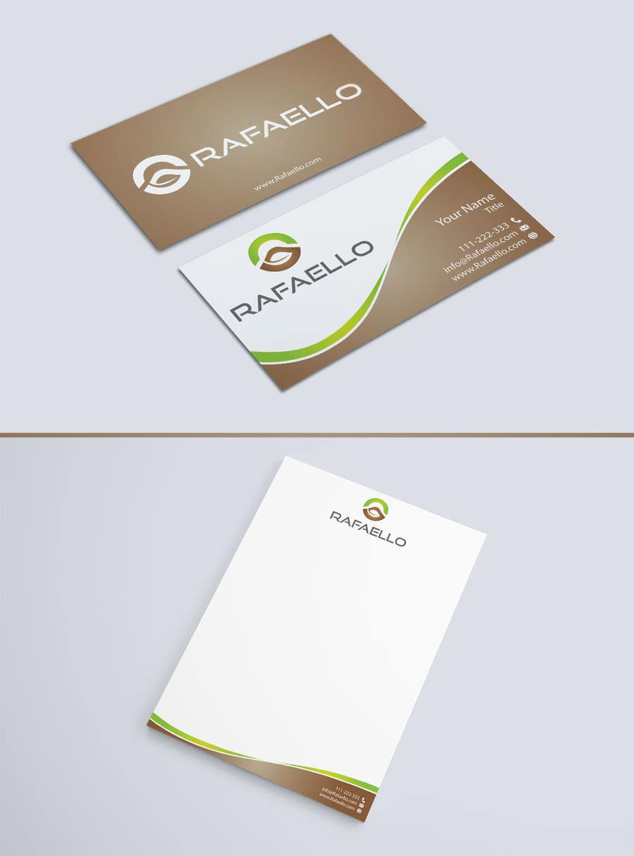 """Inscrição nº 4 do Concurso para Design Business Cards and Letterhead for Company """"Rafaello"""""""