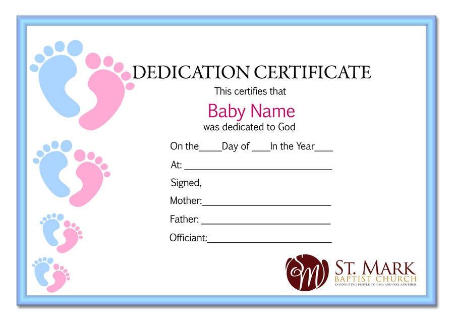 Baby Dedication Certificate – Baby Dedication Certificates Templates