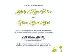#7 para Wedding invitations por Ashleyperez