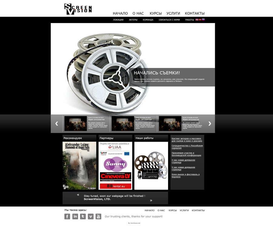 #4 for Design a Website Mockup for ***MOVIE INDUSTRY*** by slaviktim