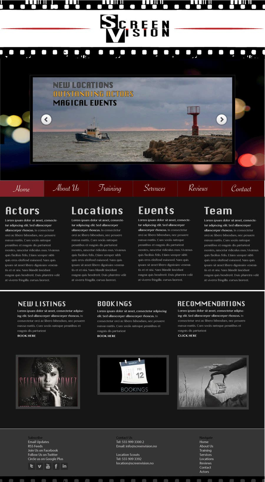 #3 for Design a Website Mockup for ***MOVIE INDUSTRY*** by chiarabroom