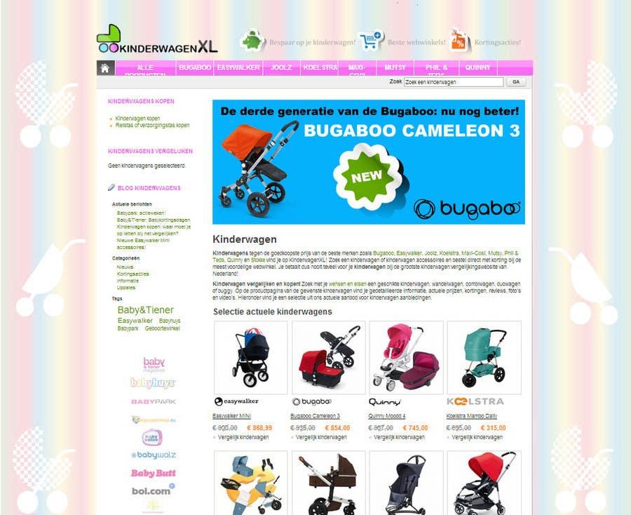 Bài tham dự cuộc thi #12 cho Design a background image for a stroller comparison site