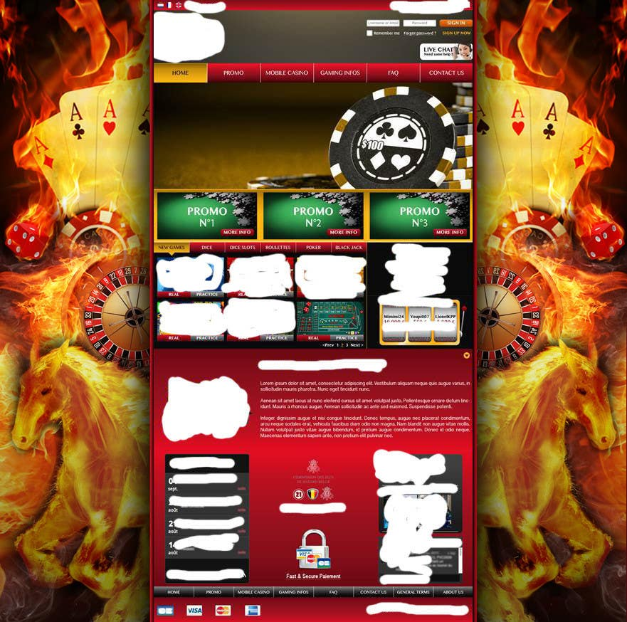 Background for casino website için 29 numaralı Yarışma Girdisi