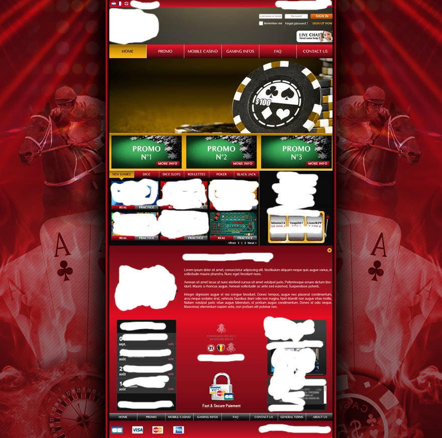 Contest Entry #39 for Background for casino website
