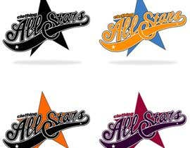 "#19 cho Remake this logo in high quality but make it say ""Clothing All Stars"" Not ""All Star"" bởi brianpadua"