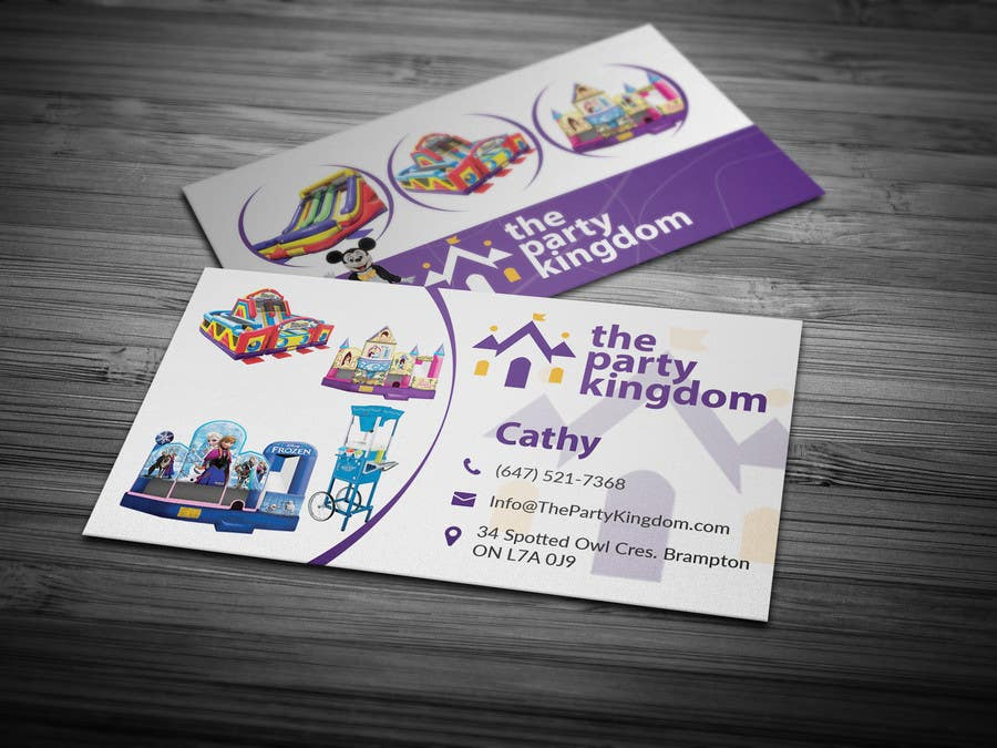 Entry #9 by Fgny85 for Design some Business Cards for my Bouncy ...