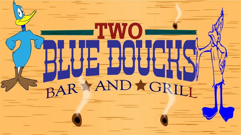 Kilpailutyö #8 kilpailussa Design a Logo for two blue ducks bar and grill